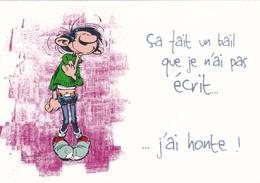 1753 Gaston Lagaffe Par Franquin (1999), Ca Fait Un Bail Que Je N'ai Pas écrit … J'ai Honte ! - Bandes Dessinées