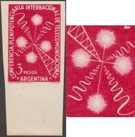 Argentine 1954 Y&T 541 Michel 615. Essai. Télécommunications. Mât Radio Avec Ondes, La Croix Du Sud - Astronomy