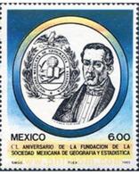 Ref. 343247 * MNH * - MEXICO. 1983. CL ANIVERSARIO DE LA FUNDACION DE LA SOCIEDAD MEXICANA DE GEOGRAFIA Y ESTADISTICA - Mexico