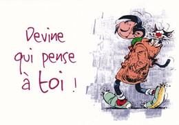 1754 Gaston Lagaffe Par Franquin (1999), Devine Qui Pense à Toi ! - Bandes Dessinées