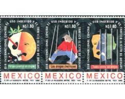 Ref. 343719 * MNH * - MEXICO. 1995. INTERNATIONAL DAY AGAINST DRUGS . DIA INTERNACIONAL CONTRA LAS DROGAS - México