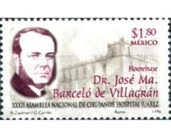 Ref. 343749 * MNH * - MEXICO. 1996. XXXII ASAMBLEA NACIONAL DE CIRUJANOS HOSPITAL JUAREZ - México