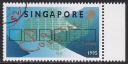 Specimen, Singapore Sc728 New Six Digit Postal Code, Six Boxes, Numbers - Zipcode