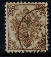 BOSNIA & HERZEGOVINA 1890-94 Arms 15 Kr. Plate I Olive-brown Perforated 11 Used.  SG 65, Michel 6 Ic J - Bosnia And Herzegovina