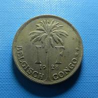 Belgian Congo 1 Franc 1928 - Belgisch-Kongo & Ruanda-Urundi
