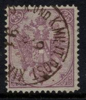 BOSNIA & HERZEGOVINA 1879 Arms 25 Kr. Plate I Perforated 12¾ Used.  SG 41, Michel 7 I A C - Bosnia Herzegovina