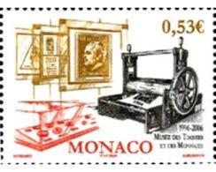 Ref. 196284 * MNH * - MONACO. 2006. 10 ANIVERSARIO DE LA OPERTURA DEL MUSEO DE SELLOS Y MONEDAS - Monaco