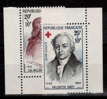 YV 1226 & 1227 N** Croix Rouge 1959 Cote 5,50 Euros - Francia