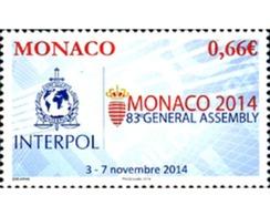 Ref. 327036 * MNH * - MONACO. 2014. INTERPOL . INTERPOL - Police - Gendarmerie