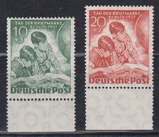 BERLIN 1951 - Michel Nr. 80-81 Postfrisch MNH** Mit Bogenrand - [5] Berlino