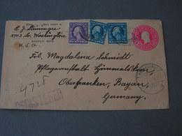 USA  R - Cv Saginaw Mich. 1923 Neuenmarkt Mit Leipzig Bahnpost ! - Ganzsachen