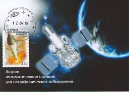 """[2019, Space, Physics, Astronomy] Maximum Card. Postcard """"Astron. Automatic Station For Astrophysical Observations"""" - Russie"""