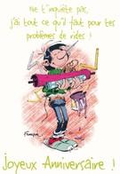 2539 Gaston Lagaffe Par Franquin (1999), J'ai Tout Ce Qu'il Faut … Joyeux Anniversaire ! - Bandes Dessinées