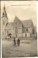 49 - SAINT AUBIN De LUIGNE -  L'Eglise  28 - Francia