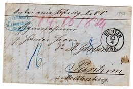 Vorphila <Paketbegleitbrief Von Berlin Nach Parchim - ...-1849 Vorphilatelie