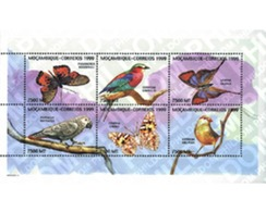 Ref. 228669 * MNH * - MOZAMBIQUE. 1999. BUTTERFLIES AND BIRDS . MARIPOSAS Y AVES - Mozambico