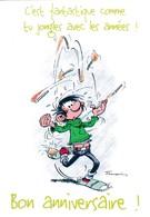 2546 Gaston Lagaffe Par Franquin (1999), Bon Anniversaire ! - Bandes Dessinées