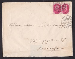 Finland: Cover, 1901, 2 Stamps, Heraldry, Cancel Abo-Turku (damaged At Back) - Lettres & Documents