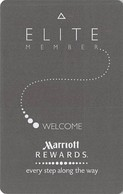 Marriott Hotels Elite RFID Room Key Card With L Above Mag Stripe, No Logo Bottom Right Reverse - Hotelsleutels (kaarten)