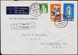 1940. PRO PATRIA. 1++5, 30+10 (defekt). PONTRESINA 13.VIII.40. (Michel 366-367) - JF108743 - Brieven En Documenten