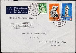 1940. PRO PATRIA. 1++5, 30+10 (defekt). PONTRESINA 13.VIII.40. (Michel 366-367) - JF108743 - Cartas
