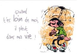 3732 Gaston Lagaffe Par Franquin (1999), Quand Tu Es Loin De Moi, Il Pleut Dans Ma Vie ! - Bandes Dessinées