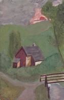 Orig. Aquarell - Bauernhaus Im Grünen - Stempel Ludwig Wasem Pirmasens - Ca. 1940/50 - 14*9cm (42606) - Watercolours