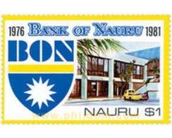 Ref. 49065 * MNH * - NAURU. 1981. 5th ANNIVERSARY OF THE BANK OF NAURU . 5 ANIVERSARIO DE LA BANCA DE NAURU - Coches