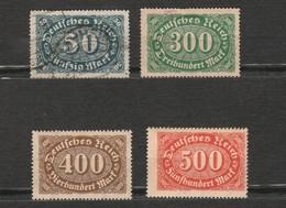 Lot 4 Timbres - Allemagne - Deutsches Reich - 300, 400 Et 500 Neuf Année 1922 - 246 - 221 - 222 - 223 - Deutschland