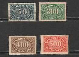 Lot 4 Timbres - Allemagne - Deutsches Reich - 300, 400 Et 500 Neuf Année 1922 - 246 - 221 - 222 - 223 - Allemagne