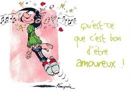 3736 Gaston Lagaffe Par Franquin (1999), Qu'es-ce Que C'est Bon D'être Amoureux ! - Bandes Dessinées