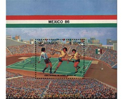 Ref. 73838 * MNH * - NICARAGUA. 1985. FOOTBALL WORLD CUP. MEXICO-86 . COPA DEL MUNDO DE FUTBOL. MEXICO-86 - Nicaragua