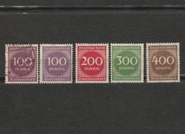 Lot 5 Timbres Chiffre Allemagne Deutsches Reich Année 1923 200  400 Neuf - 100 Et 300 Sans Gomme Mi 268 - 269 - 270 -271 - Usados