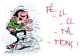 4731 Gaston Lagaffe Par Franquin (1999), Fé .. Li ... Ci … Ta … Tions ! - Bandes Dessinées