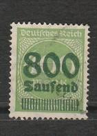 Allemagne - Deutsches Reich - Chiffre -  Inflation - 800 Tausend - Année 1923 Mi 307 - Allemagne