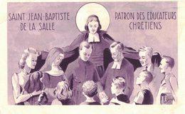 SAINT JEAN BAPTISTE DE LA SALLE PATRON DES EDUCATEURS CHRETIENS IMAGE PIEUSE RELIGIEUSE HOLY CARD SANTINI HEILIG PRENTJE - Images Religieuses