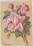 AK Rosen - Orig. Aquarell - Walter Douzette 1956  (42611) - Blumen