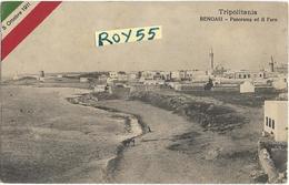 Libia Tripolitania Colonia Italiana Colonie Italiane Bengasi Panorama Ed Il Faro Primi 900 (f.picc./v.retro) - Libia