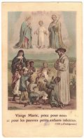 VIERGE MARIE PRIEZ POUR NOUS OEUVRE STE ENFANCE IMAGE PIEUSE RELIGIEUSE HOLY CARD SANTINI HEILIG PRENTJE - Images Religieuses