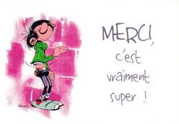 4733 Gaston Lagaffe Par Franquin (1999), Merci C'est Vraiment Super ! - Bandes Dessinées