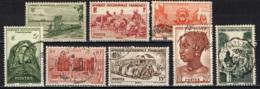 AFRICA OCCIDENTALE FRANCESE - 1947 - INDIGENI AFRICANI - COSTUMI - PAESAGGI - ANIMALI - USATI - A.O.F. (1934-1959)