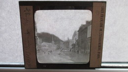Plaque De Verre Photo Type Négatif Au Gélatino Bromure : SPA Les Bains, Vue Animée - Glasplaten