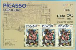 Uruguay 2019 ** Minipliego 3 Estampillas.  Homenaje A Picasso - Picasso