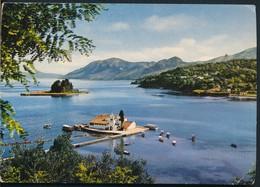 °°° 13380 - GREECE - CORFU - ULYSSES ISLAND AND VLACHERNES MONASTERY - 1975 With Stamps °°° - Grecia