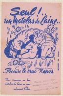 9/19  BUVARD MAINGUY GUINGAMP MATELAS DE LAINE BEBE MOUTON A MERCIER - Buvards, Protège-cahiers Illustrés