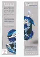 """MARQUE PAGES """" 30 é Salon Du Livre HERMILLON OCTOBRE 2019 """" ( VOIR RECTO/VERSO) PEUX FAIRE UN PUZZLE AVEC 2 MP - Bladwijzers"""