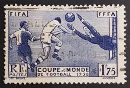 1938 - 1939 N° 396, Football World Cup, France, Republique Française, Oblitéré - Oblitérés