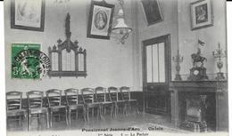 62 CALAIS Pensionnat Jeanne D'Arc Le Parloir N° 5  CPA écrite En 1912 - Calais