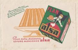 9/23  BUVARD FLAN ALSA LEVURE ALSACIENNE - Produits Laitiers