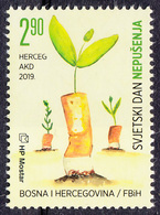 Bosnia Croatia 2019 World NO SMOKING Day Health Medicine Plants MNH - Bosnië En Herzegovina